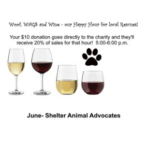 Woof, WAGS and Wine - Shelter Animal Advocates