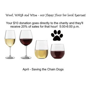 Woof, WAGS and Wine - Saving the Chain Dogs