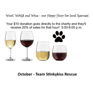 Woof, WAGS and Wine - Team Stinkykiss Rescue